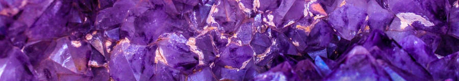 Banner for jewellery post showing a close up of purple gems